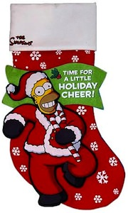 Christmas Stocking based on Homer Simpson