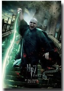 HP8 movie poster of Voldemort in his final battle