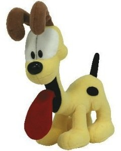 Garfields friend Odie the dog as plush toy