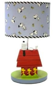 Snoopy and Woodstock lamp