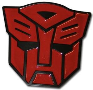 Transformer Autobots belt buckle