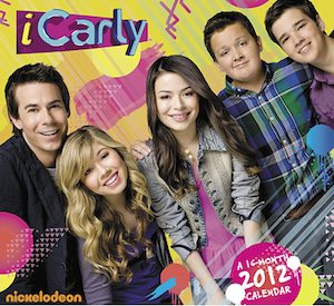 2012 iCarly picture calendar for on the wall