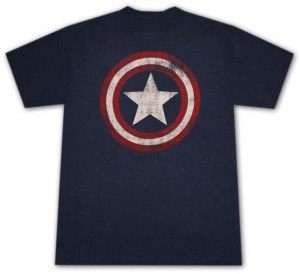 Captain America Distressed Logo T-Shirt