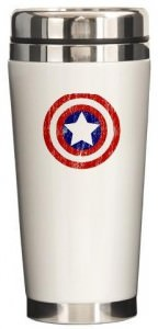 Captain America Vintage Sheild Travel Mug