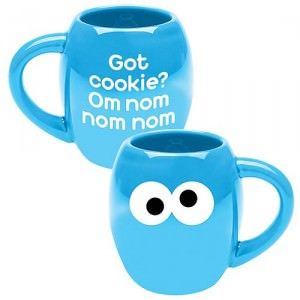 Seasame Street Cookie Monster Om Nom Nom Nom Mug