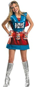 Simpsons Duff Woman Costume