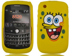 Blackberry 8520 case based on Spongebob