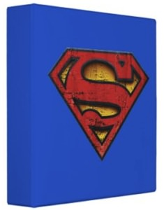 Superman in distress logo binder
