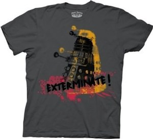 Dalek Exterminate splater  t-shirt