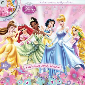 Disney Princess DVD 2012 Wall Calendar