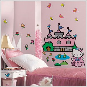 Hello Kitty(R) Princess Castle Giant Wall Decals