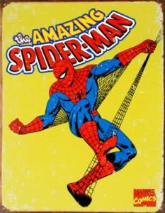 Spider-Man metal sign