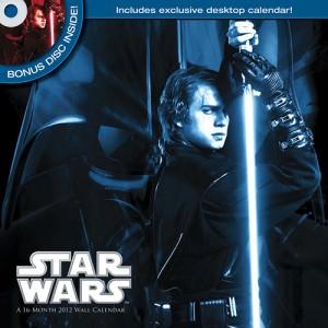 Star Wars Saga DVD 2012 Wall Calendar