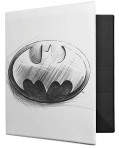 Batman pencil drawn logo binder