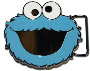Cookie Monster belt buckle for the sesame street fans