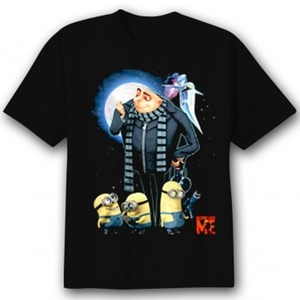 t-shirt base on despicable me with Gru and his minions