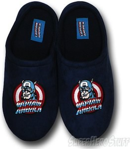 Captain America Polar Fleece Slippers