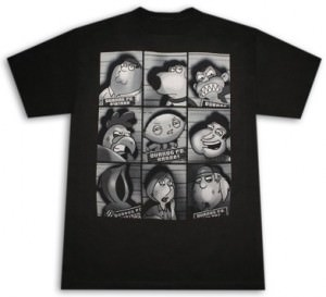 Family Guy Mugshots T-Shirt
