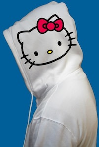 Hello Kitty face hoodie