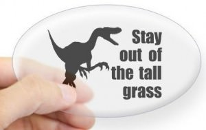 Jurassic Park Say Out Of The Tall Grass Decal