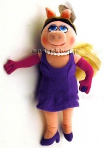 "Disney Muppets Miss Piggy 9"" Plush character"