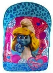 The Smurfs backpack with smurfette on it