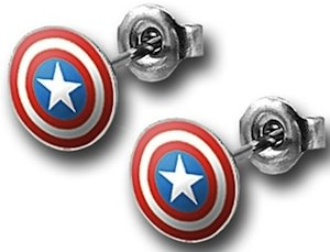 Captain America shiel earrings