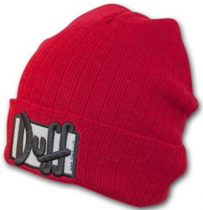 The Simpsons Duff Beer Winter Hat