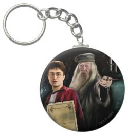 Harry Potter and Professor Dumbledore on one key chain
