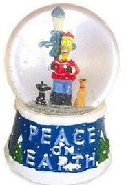 Homer Simpson musical snow globe