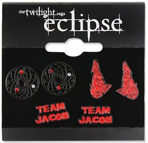 Team Jacob Black earrings set of 3