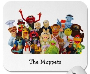 The Muppets mousepad with all the characters