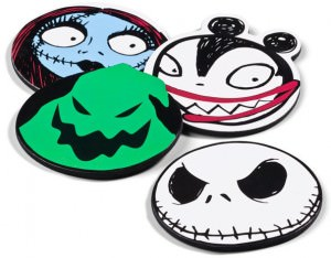 Nightmare Before Christmas Character Head Coasters