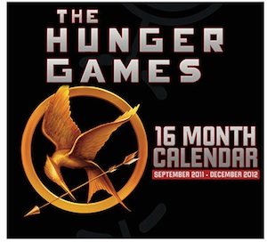 The Hunger games wall calendar