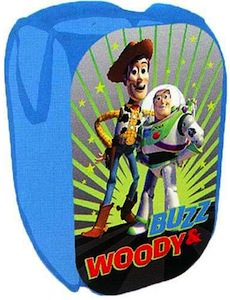 Toy Story laundry hamper with Buzz and woody