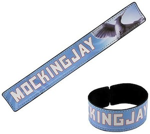 The Hunger Games slap bracelet of the mockinjay