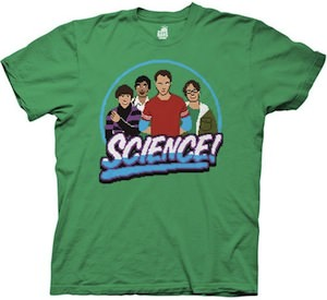 The Big Bang Theory cast 8 bits science t-shirt