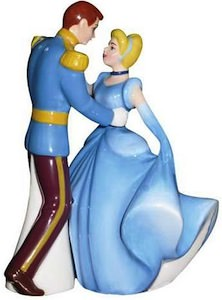 Princess Cinderella and Prince Charming Salt And Pepper Shaker set