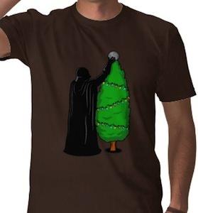 Darth Vader Christmas Tree Decorating t-shirt