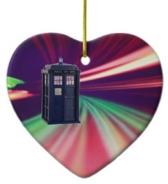 Tardis Christmas ornament for Doctor Who fans