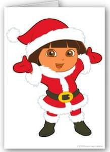 Dora The Explorer Christmas Card
