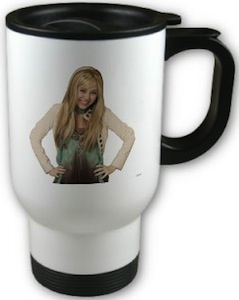 Hannah Montana stainless steel travel mug