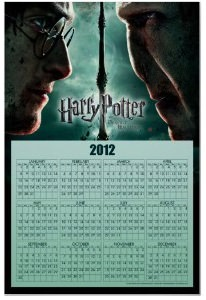Harry Potter calendar 2012