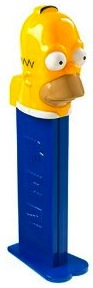 The SImpsons giant PEZ of Homer Simpson