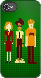 IT Crowd iPhone case with Moss, Roy and Jen