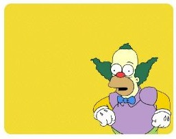 The Simpsons Krusty the Clown mousepad