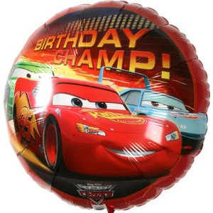 Cars lightning McQueen birthday balloon