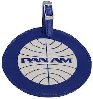 Pan Am Round Luggage Tag in Pan Am Blue