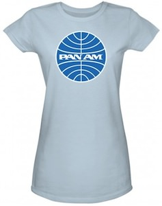 Pan Am Logo Women's T-Shirt - Light Blue