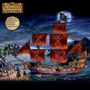 Queen Anne's Revenge: Pirates Of The Caribbean Replica Ship Sculpture